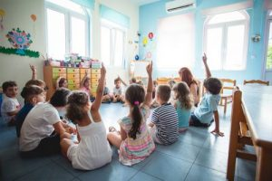 Activities in class, Pre-K – Kindergarten