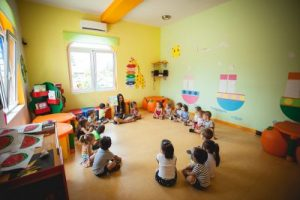 Reading stories, Toddler group